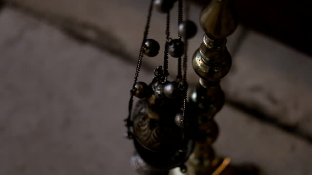 The candle holder in the orthodox church video