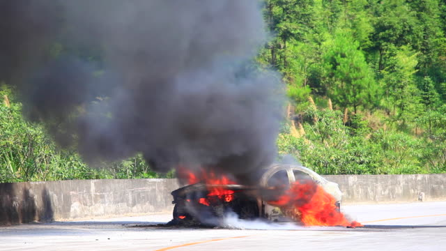 The car spontaneous combustion video