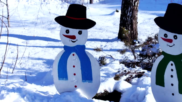 The cardboard figure of a snowman video