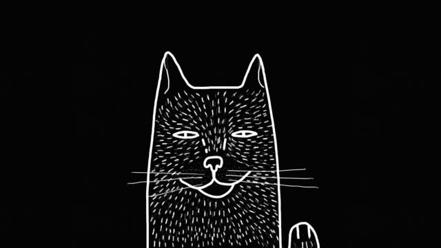 katten - digital animation bildbanksvideor och videomaterial från bakom kulisserna