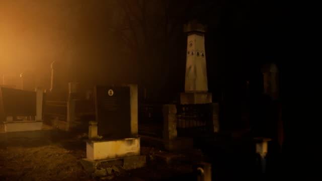 the cemetery at night.horror scene