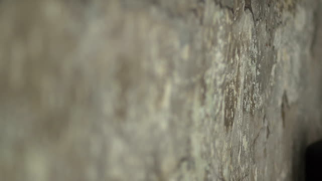 The change of focus that shows the texture of the walls video