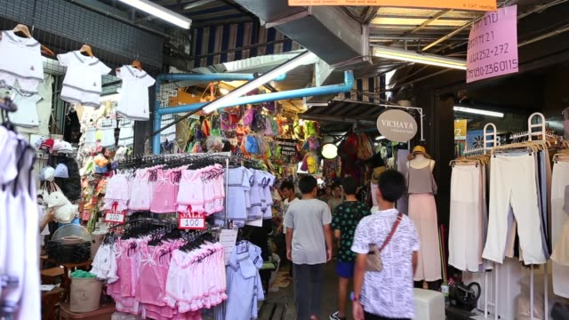 The Chatuchak Market in Bangkok, Thailand The best of Bangkok souvenir stock videos & royalty-free footage