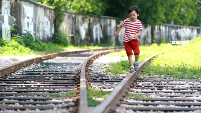 The children play on the track video