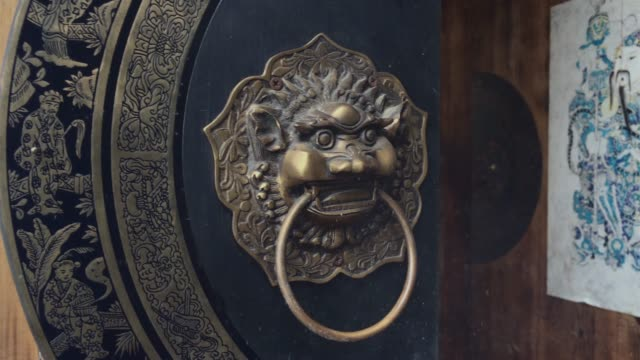 The Chinese ancient wood door video
