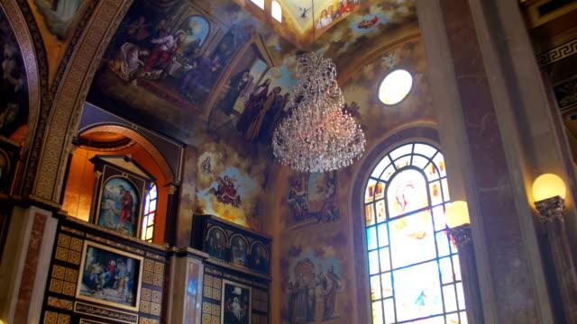 The Christian Church, Divine icon, Altar and Religion Interior video