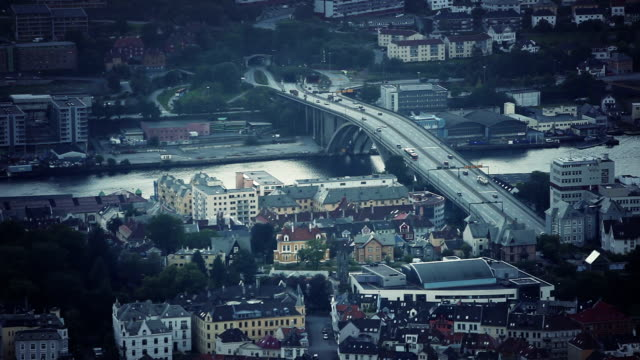 The city of Bergen, view from Floyen video