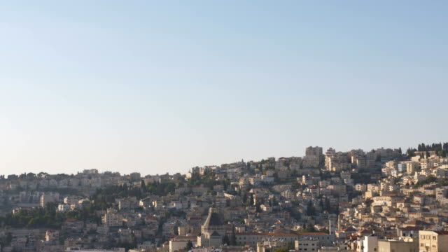 The city of Nazareth with the basilica of the annunciation video