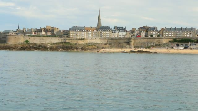 The city of Saint Malo seen from the wide.Brittany.