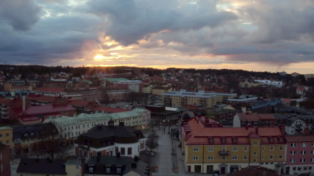 AERIAL: The city of Strängnäs, Sweden video