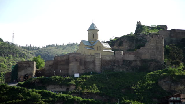 The cityscape of Tbilisi the Narikala fortress video