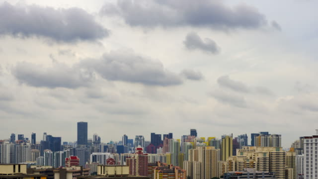 4K TIME LAPSE : The cityscape with Cloud cover.(Apple ProRes. 422(HQ)zoom in styles. video