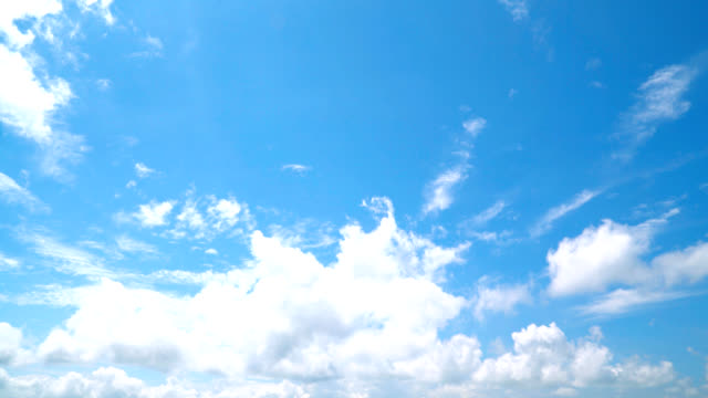 the clear sky with a cloud video