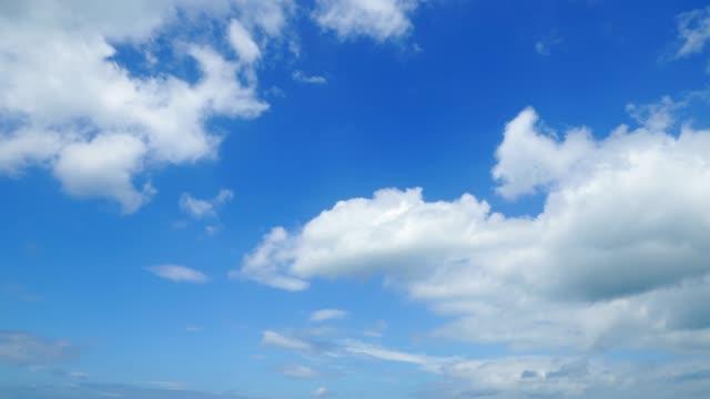 清澈的天空與雲 - sky 個影片檔及 b 捲影像