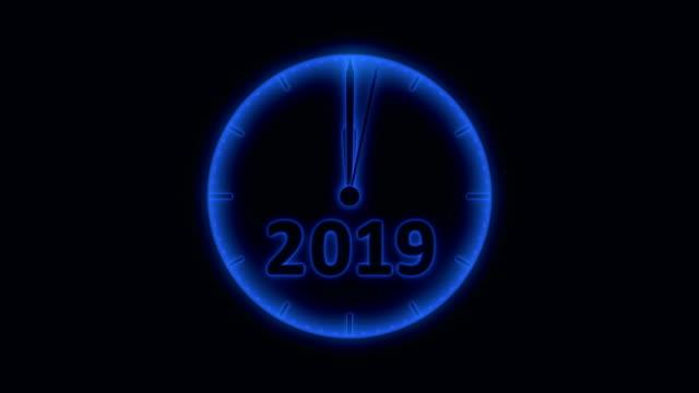 時計 2019 - 十二月点の映像素材/bロール