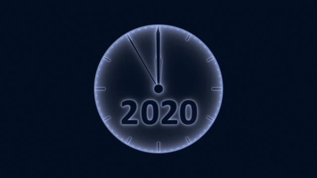 The clock 2021 Movement of the second hand on the clock with the figure 2020-2021 in blue tinting. 3d rendering. happy new year 2021 stock videos & royalty-free footage