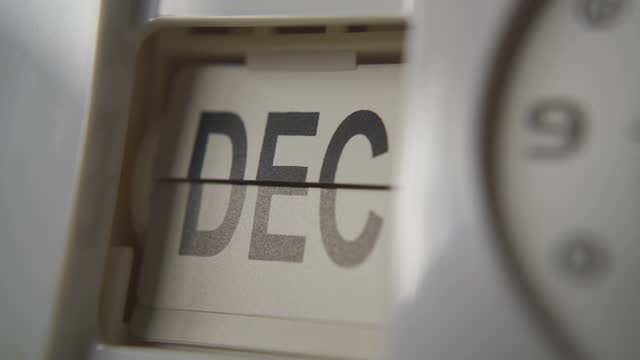 The clock changing the month from January to December The clock changing the month from January to December calendar stock videos & royalty-free footage