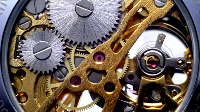 The clock mechanism and uncovered the gear watch video