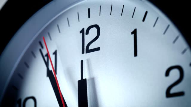 The clock strikes 12