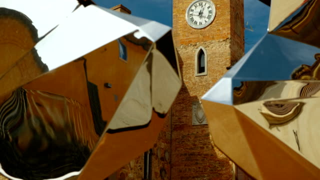 The Clock Tower of Lajatico, Umbria, Italy