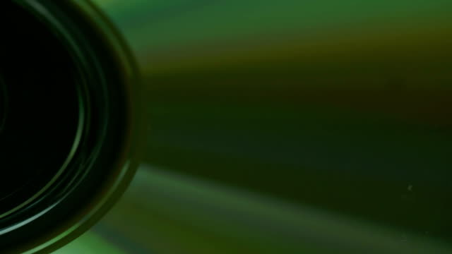 The close up of the camera lens with rays video