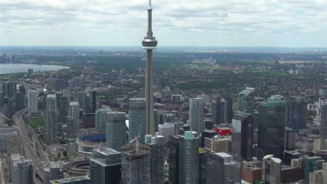 the cn tower - toronto architecture stock videos & royalty-free footage