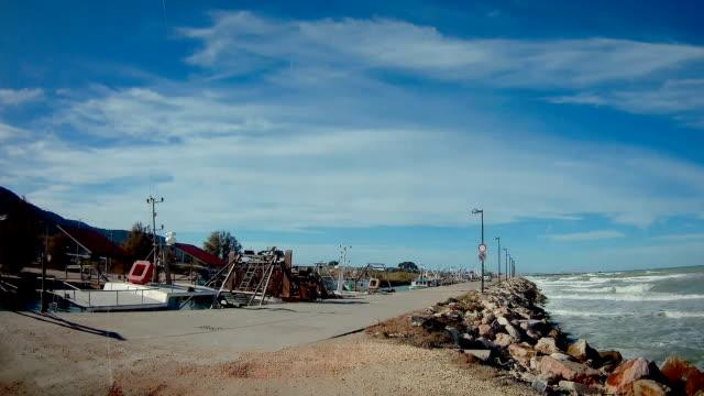 vídeos de stock e filmes b-roll de the coastal area of san marino in italy - berma da estrada
