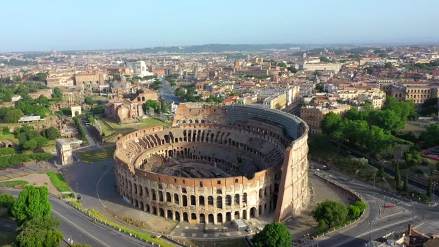 The Colosseum and the Imperial Forums in Rome