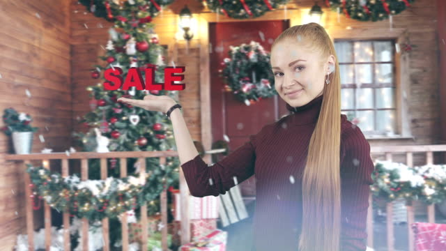The concept of Christmas discount.