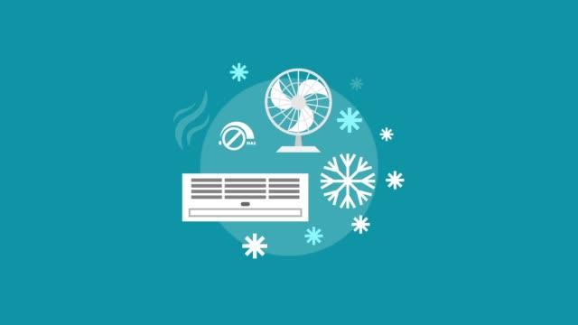 begreppet värme ventilation och konditioneringsanordningar för reklambanner - ventilation bildbanksvideor och videomaterial från bakom kulisserna