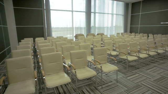The conference hall of the airport video