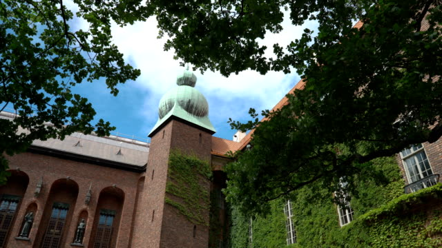 The courtyard of the Stockholm City Hall, Sweden The courtyard of the Stockholm City Hall is one of the most popular tourist places in Stockholm, Sweden palace stock videos & royalty-free footage