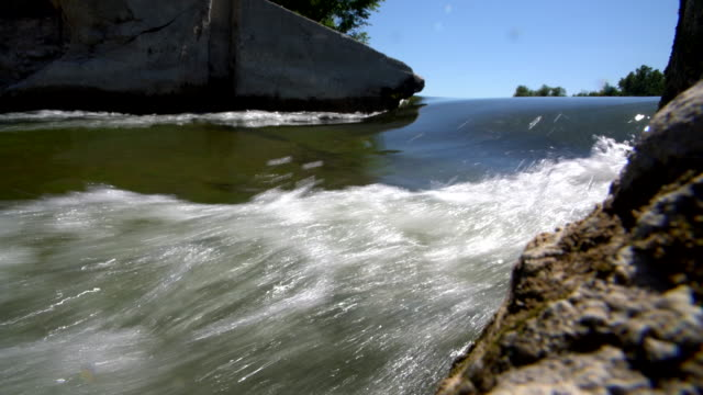 The dam on the Saugeen River near by Walkerton, Brockton, Bruce County, Ontario, Canada. video