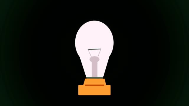 4k die i̇dea strahlt wie eine glühbirne / endlos wiederholbar - elektrische lampe stock-videos und b-roll-filmmaterial