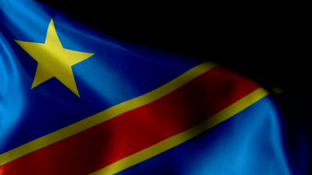 The Democratic Republic of Congo Flag Flapping video