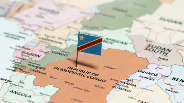 The Democratic Republic of Congo with National Flag video