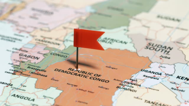 The Democratic Republic of Congo with Pin video