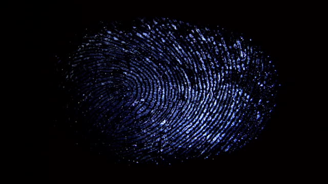 The discovery of the fingerprint on the transparent surface