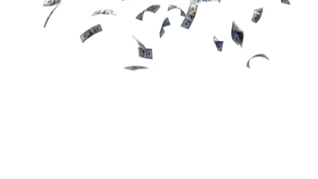 il dollaro carta cadere dal cielo - simbolo della sterlina video stock e b–roll