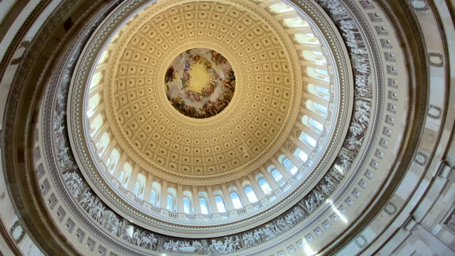 The dome of the United States Capitol building, interior