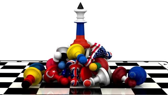vídeos de stock, filmes e b-roll de o domínio da federação russa na geopolítica - domínio