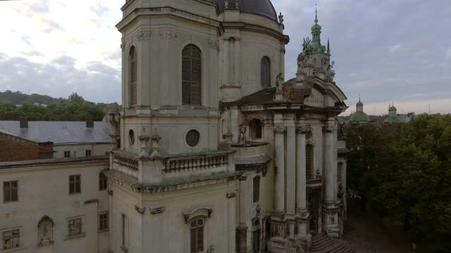 The Dominican church and monastery in Lviv, Ukraine is located in the city's Old Town, today serves as the Greek Catholic church of the Holy Eucharist video