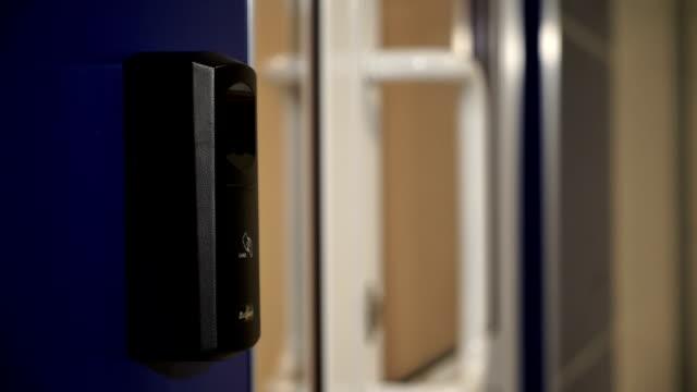 The door with the fingerprint scanner video
