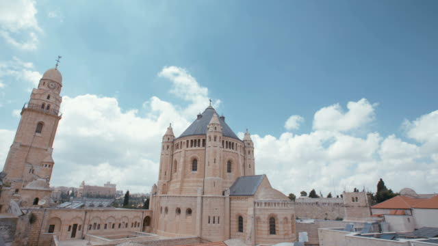 The Dormition Abbey in old city of Jerusalem video
