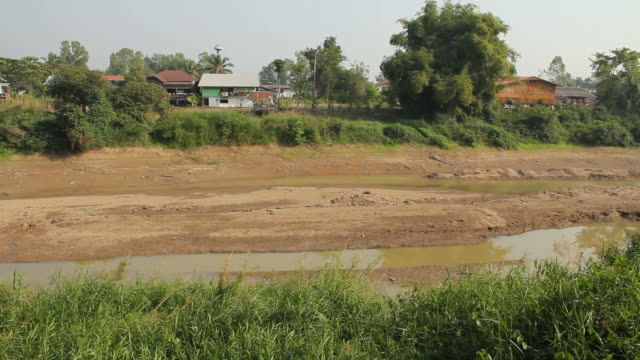 The dried up river.