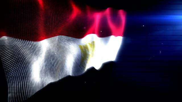 The Egyptian Flag - Background Loop (Full HD) video