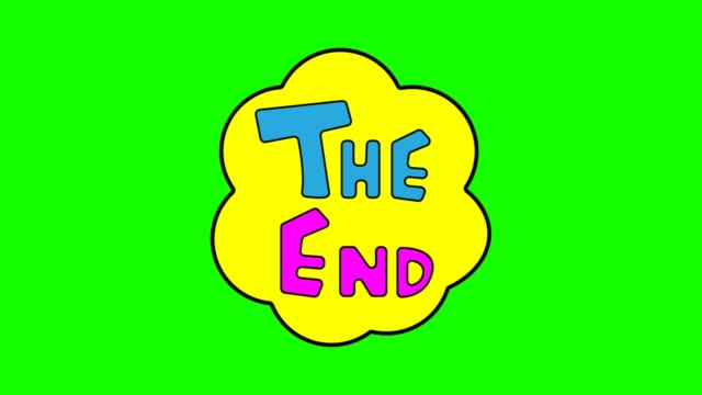 The end animation green screen