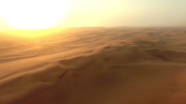 The end of the day over the Namibian Desert video