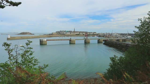 The entrance to the port of Saint Malo. Brittany.