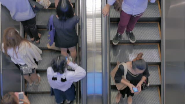 The escalator and passenger video